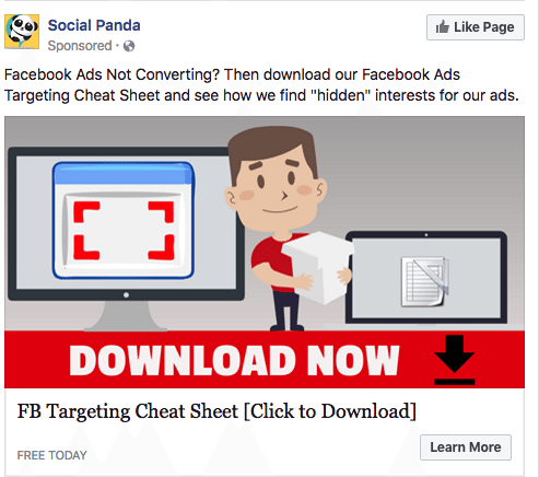 Social Panda FB Targeting Cheat Sheet