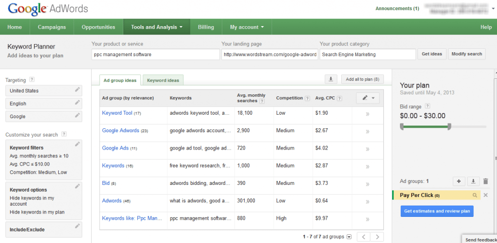 google keywords planner lead magnet ideas